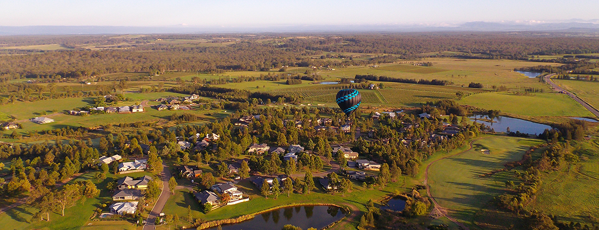 ballooning over hunter valley