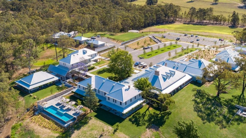 spicers guesthouse hunter valley from above